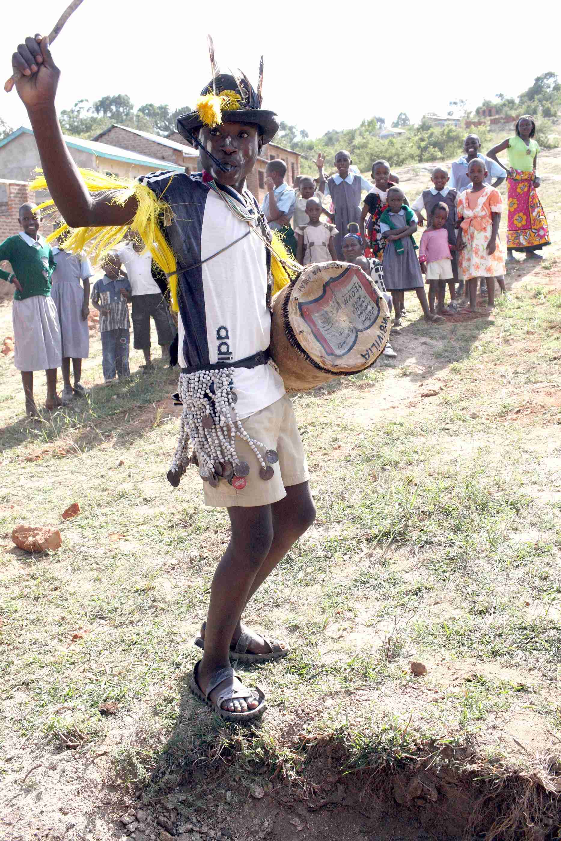 Alex performs at Harambee at Mulundi-Kwa Muema Secondary School