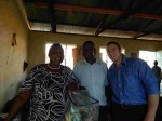 Teachers at Mulundi Primary, in Kitui, Kenya receiving pencils bags.