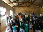 More kids at Mulundi Primary School in Kitui, Kenya with pencil bags.