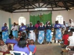 Performers from the Catholic Church in Mulundi, Kitui, Kenya.
