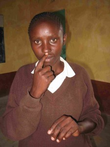 Christine Wambua, student at Mulundi-Kwa Muema Secondary School in Kenya.